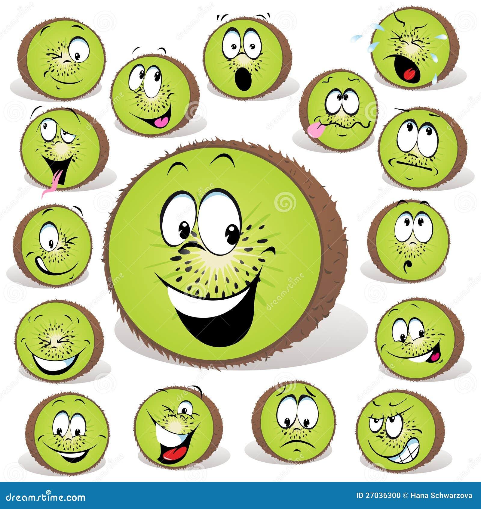 kiwi fruit cartoon stock photo