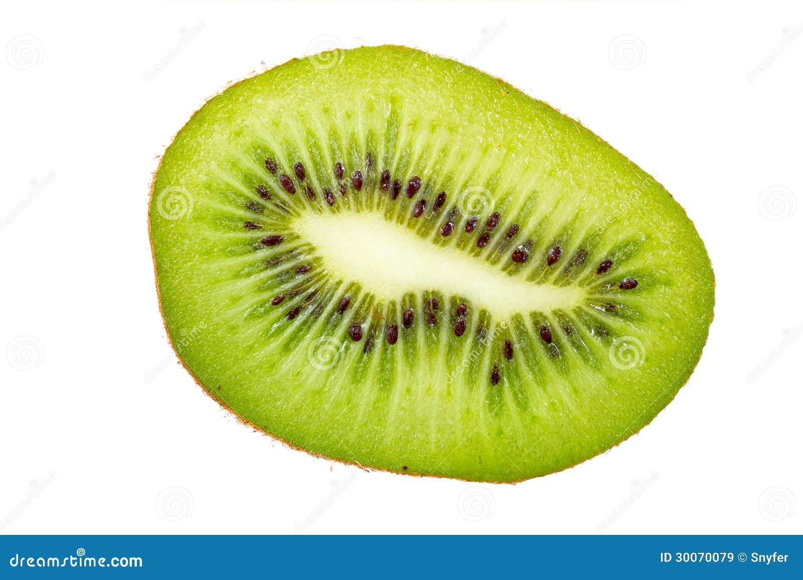 Kiwi fruit cut in half close up - Kiwi Fruit Cross Section Royalty Free Stock Images