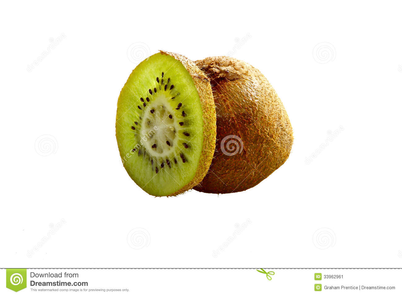 Kiwi Fruit slice isolated