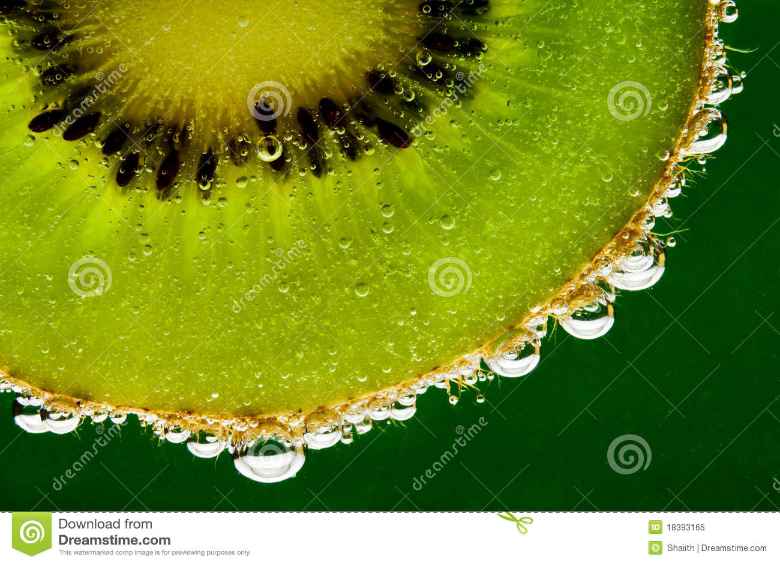 Kiwi Fruit In Sparkling Water Royalty Free Stock Photo - Image ...