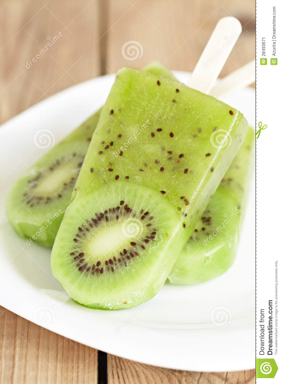 Kiwi Ice Cream Popsicle Stock Image - Image: 28493671
