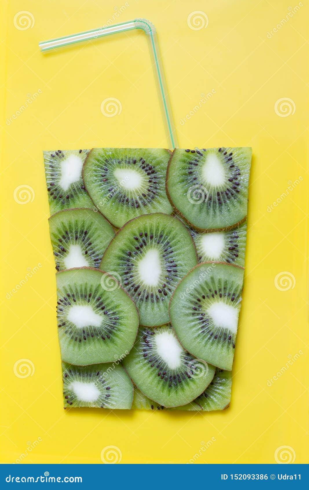 Kiwi juice abstract art food concept