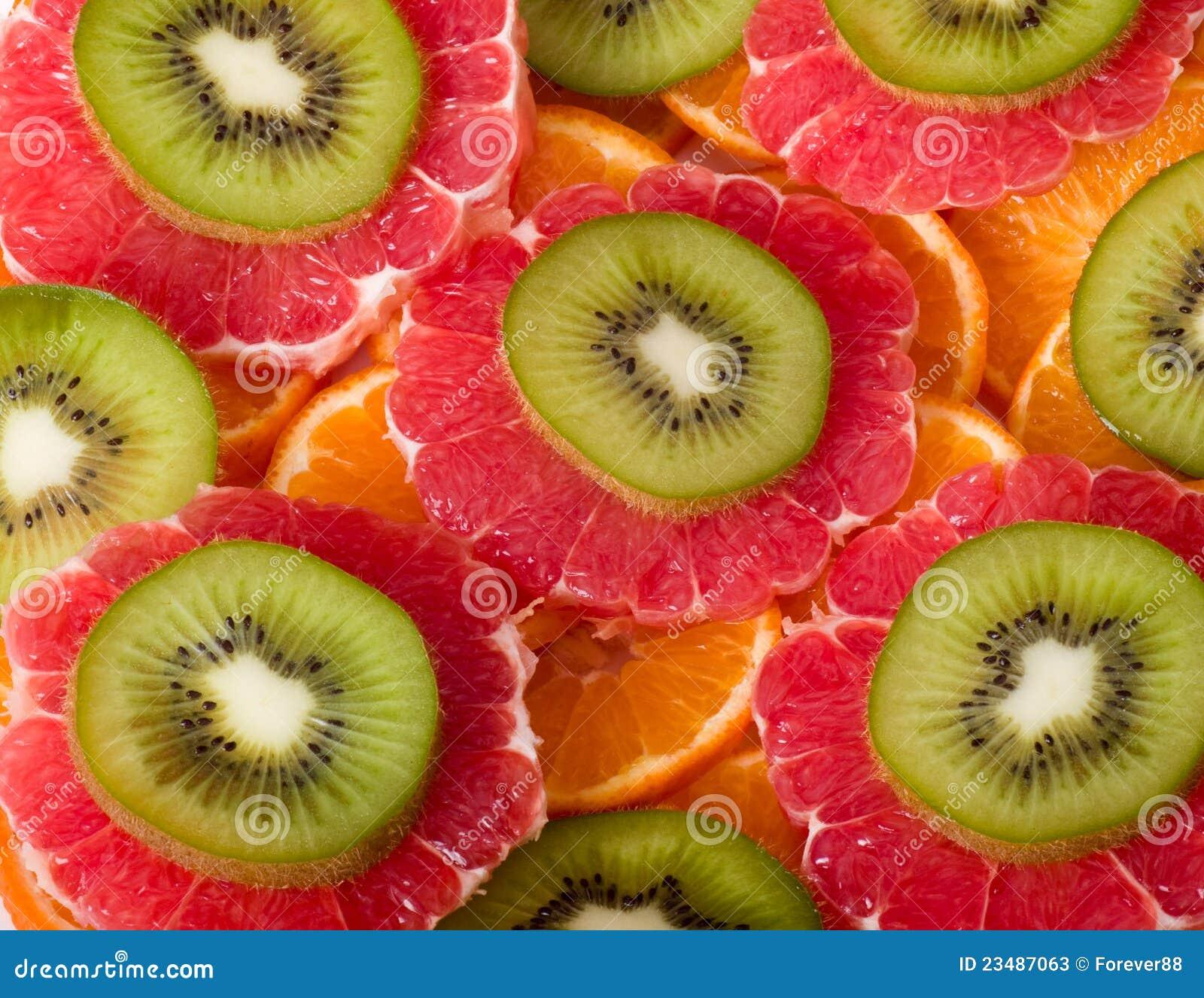 Kiwi, pomelo y naranja