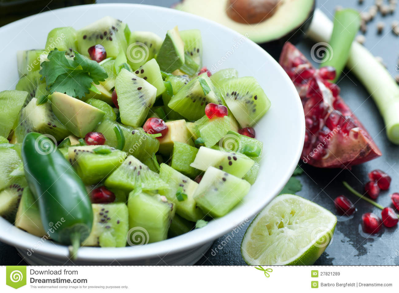 Kiwi Salsa Royalty Free Stock Images - Image: 27821289