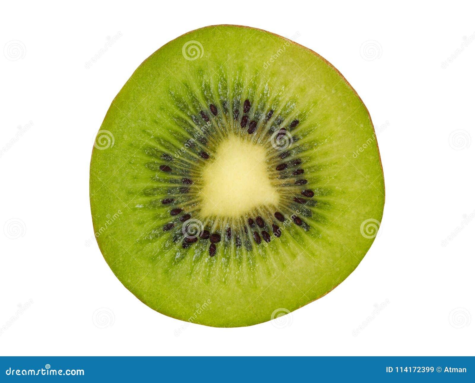 Kiwi Slice auf Weiß