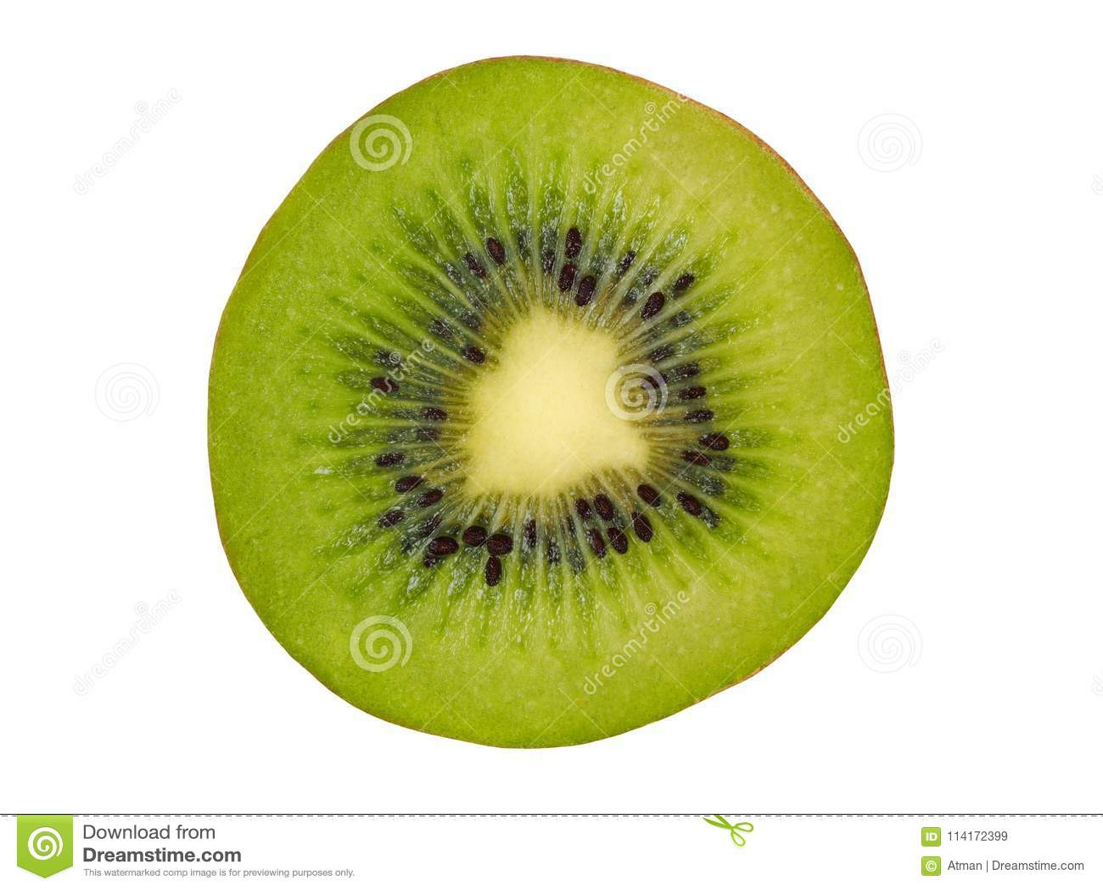 Kiwi Slice op Wit
