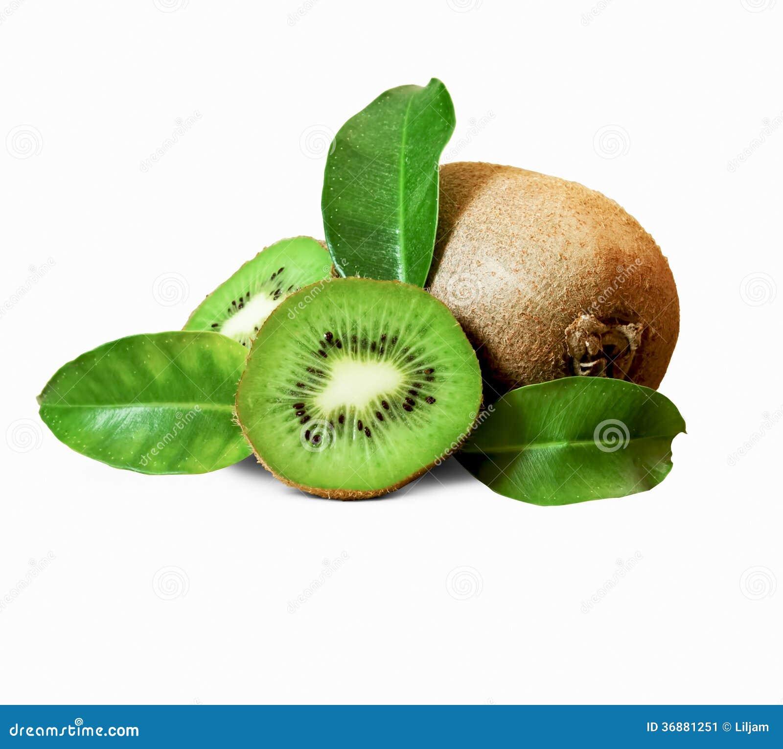 Download Kiwi su bianco immagine stock. Immagine di rotondo, frutta - 36881251