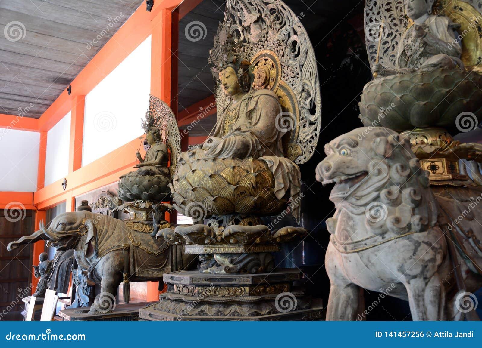 Wooden Buddha, Kyoto, Japan