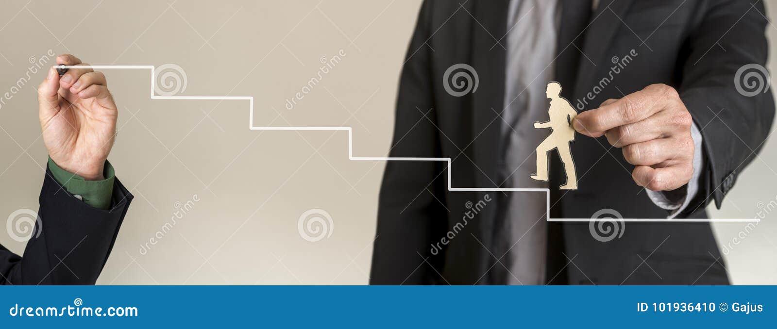 Klättra den företags stegen till framgång