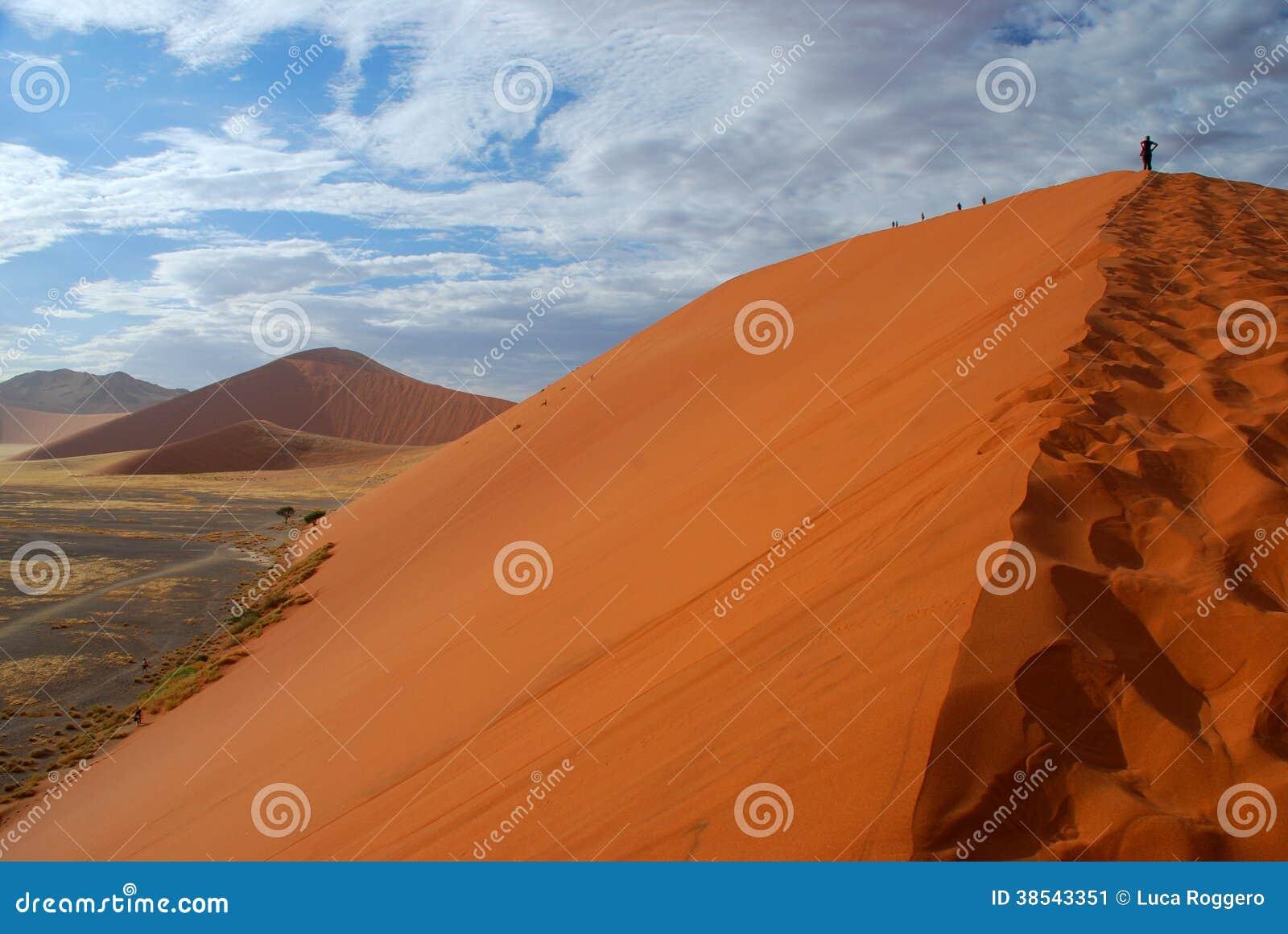 Klättring för dyn 45. Sossusvlei Namibia