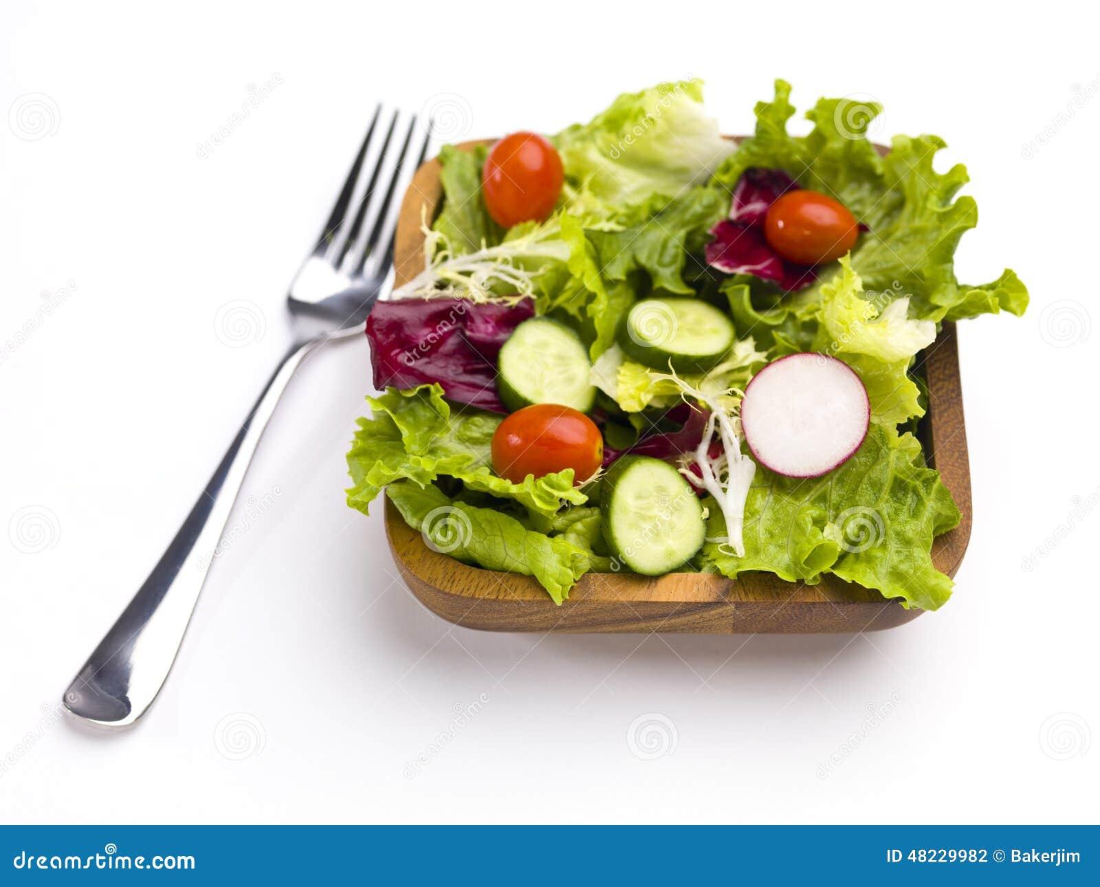 Klaar om salade te eten