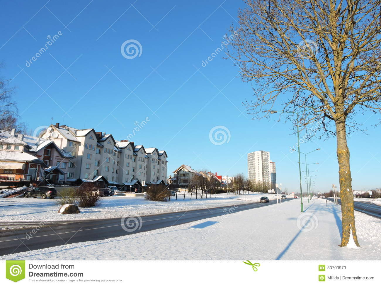 Klaipeda Town, Lithuania Editorial Stock Photo