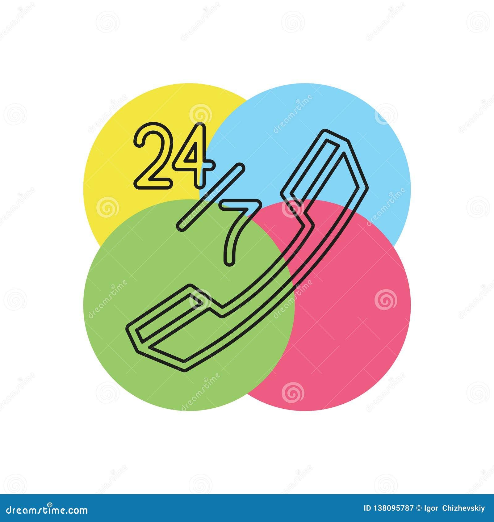 24 7 klantenservicepictogram
