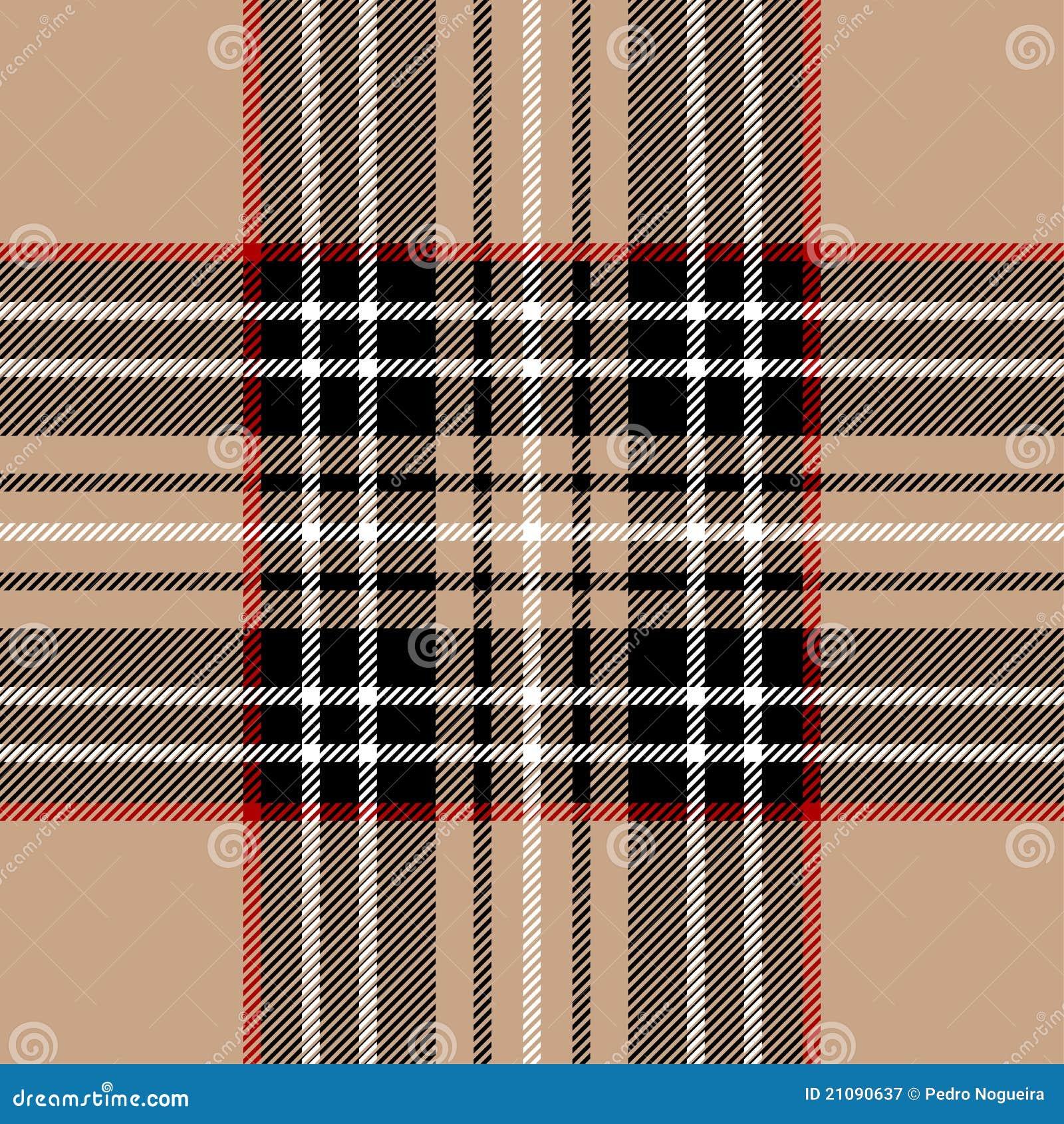Schotse Geruite Wollen Stof.Klassiek Beige Geruite Schotse Wollen Stof Vector