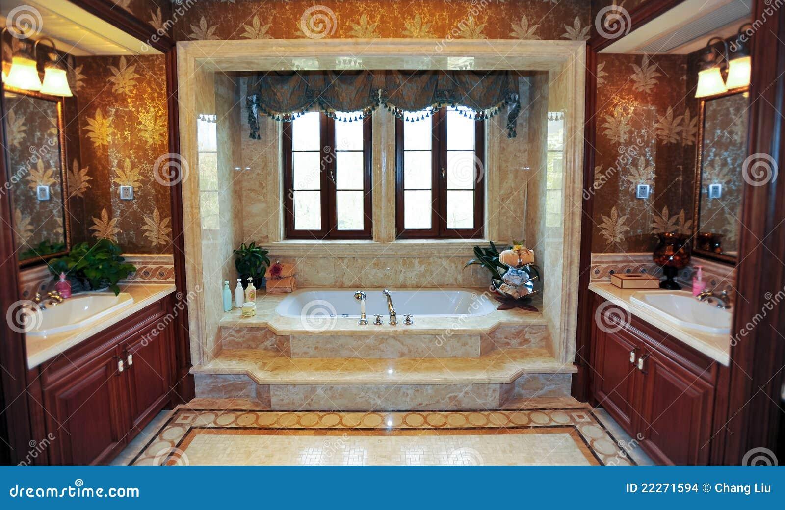Klassieke badkamers stock foto afbeelding bestaande uit flat 22271594 - Luxe design badkamer meubilair ...
