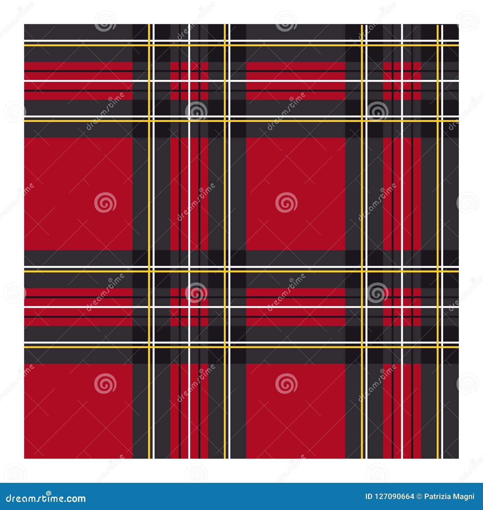 Klassieke geruit Schots wollen stofstof voor kleding