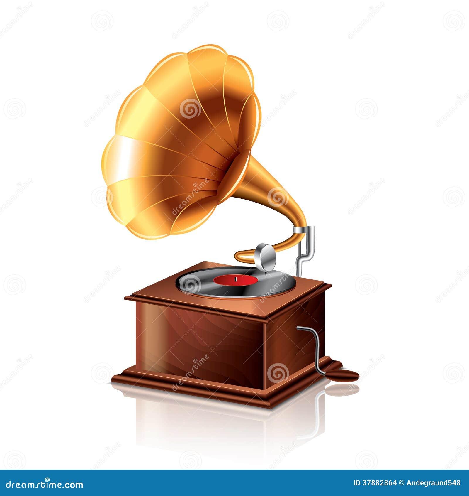 Klassieke grammofoon vectorillustratie
