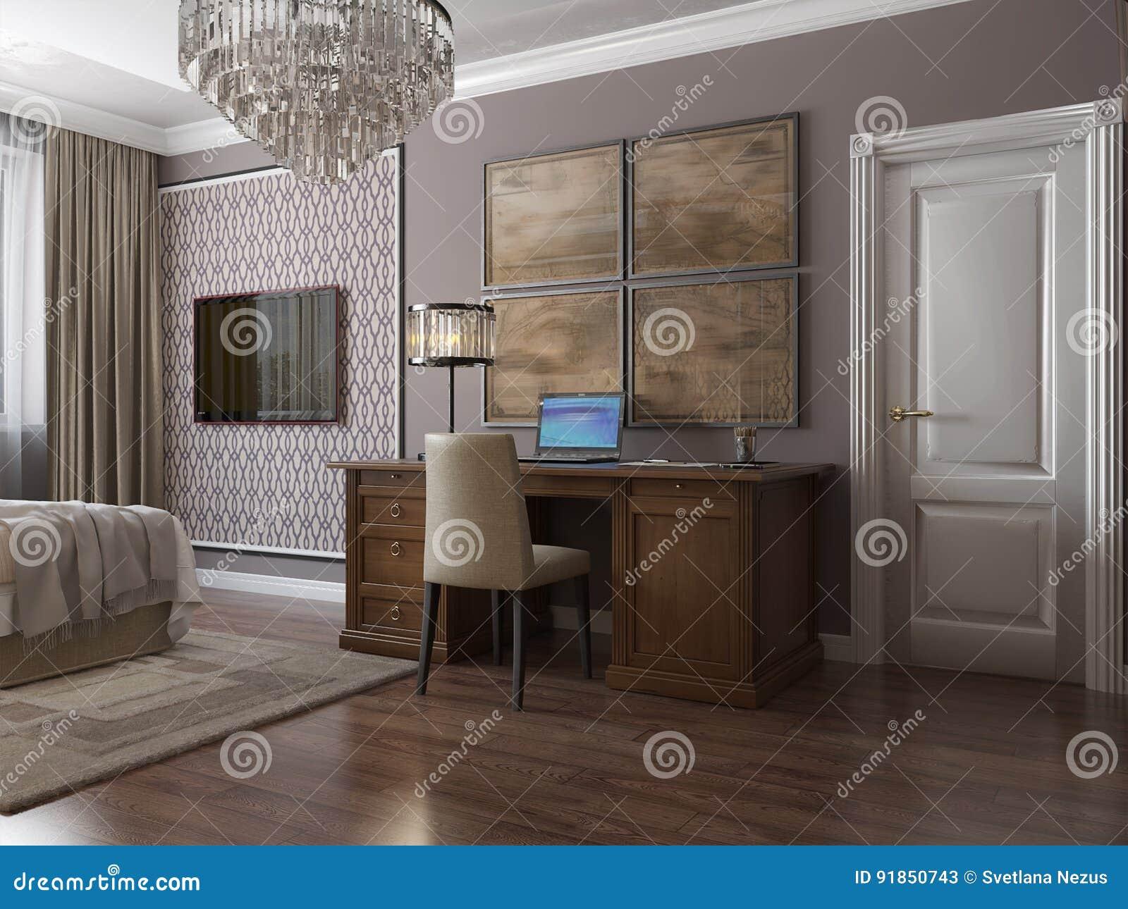 Klassieke moderne zaal de kinderen` s zaal van het huisbureau