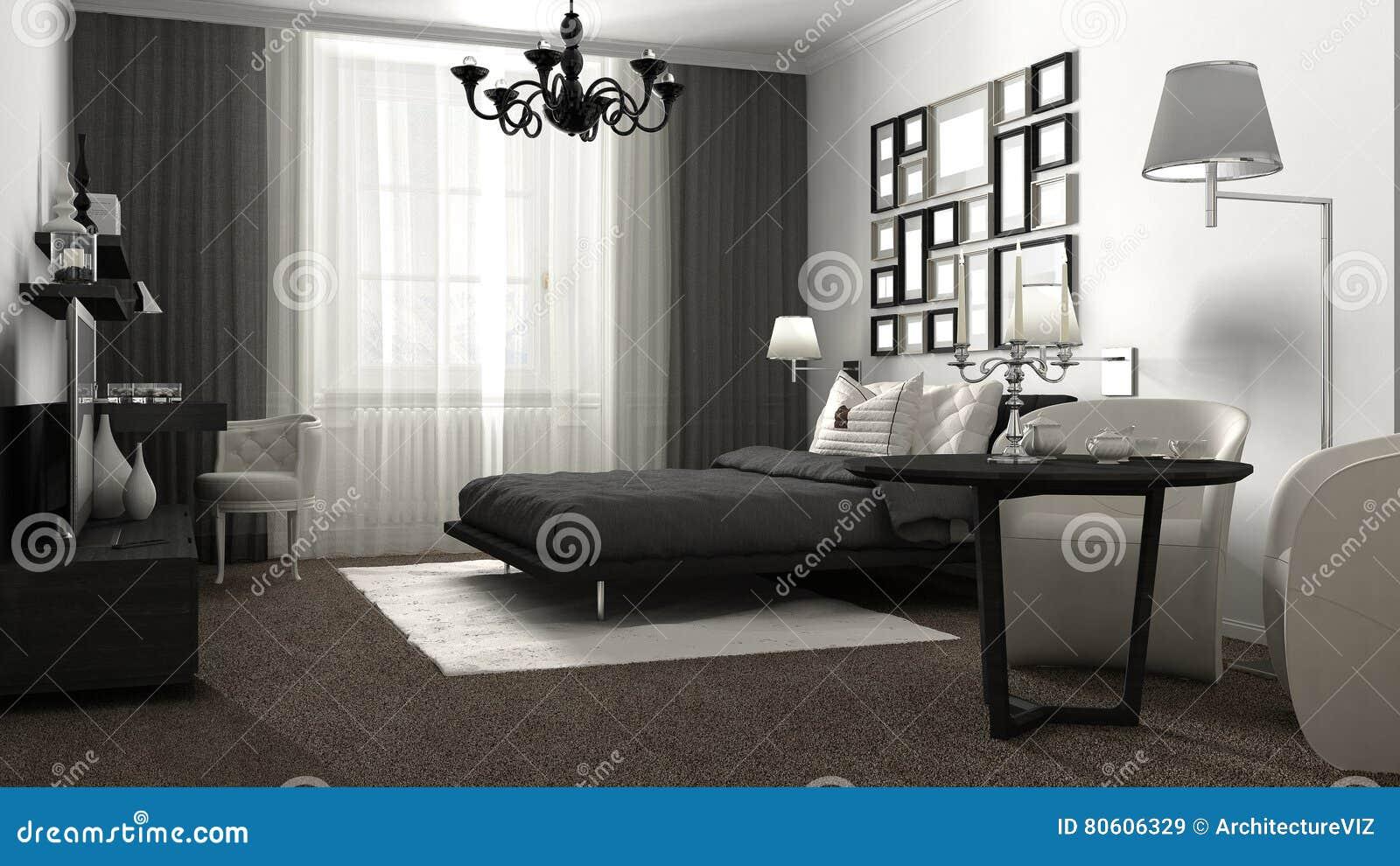klassieke slaapkamer hotel toevlucht