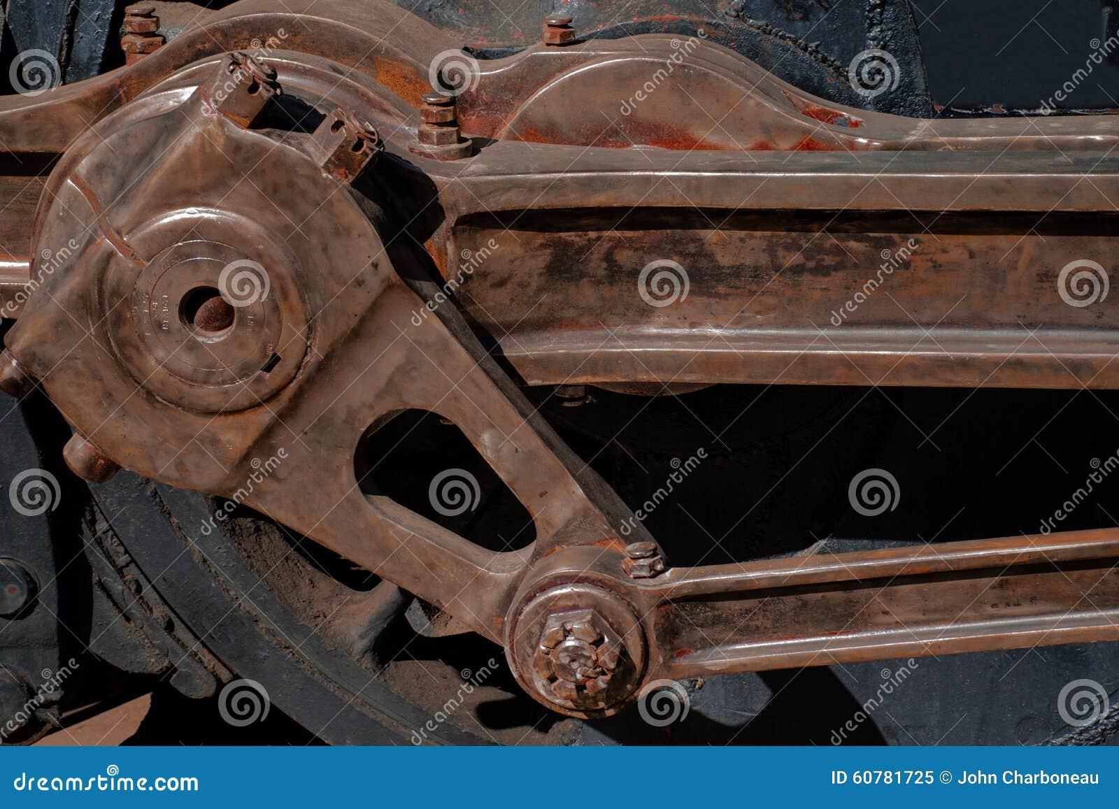 Klassieke voortbewegingssteenkool gedreven staaf en bestuurder