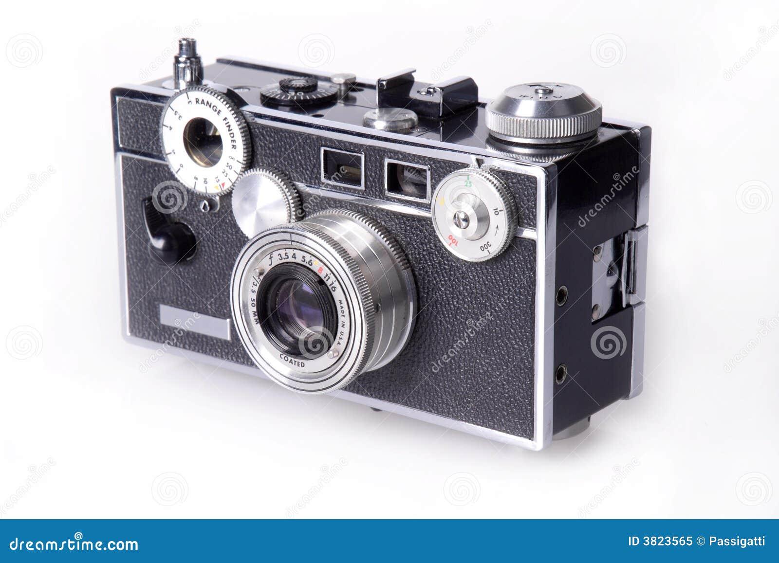 Klassische film entfernungsmesser kamera stockbild bild von
