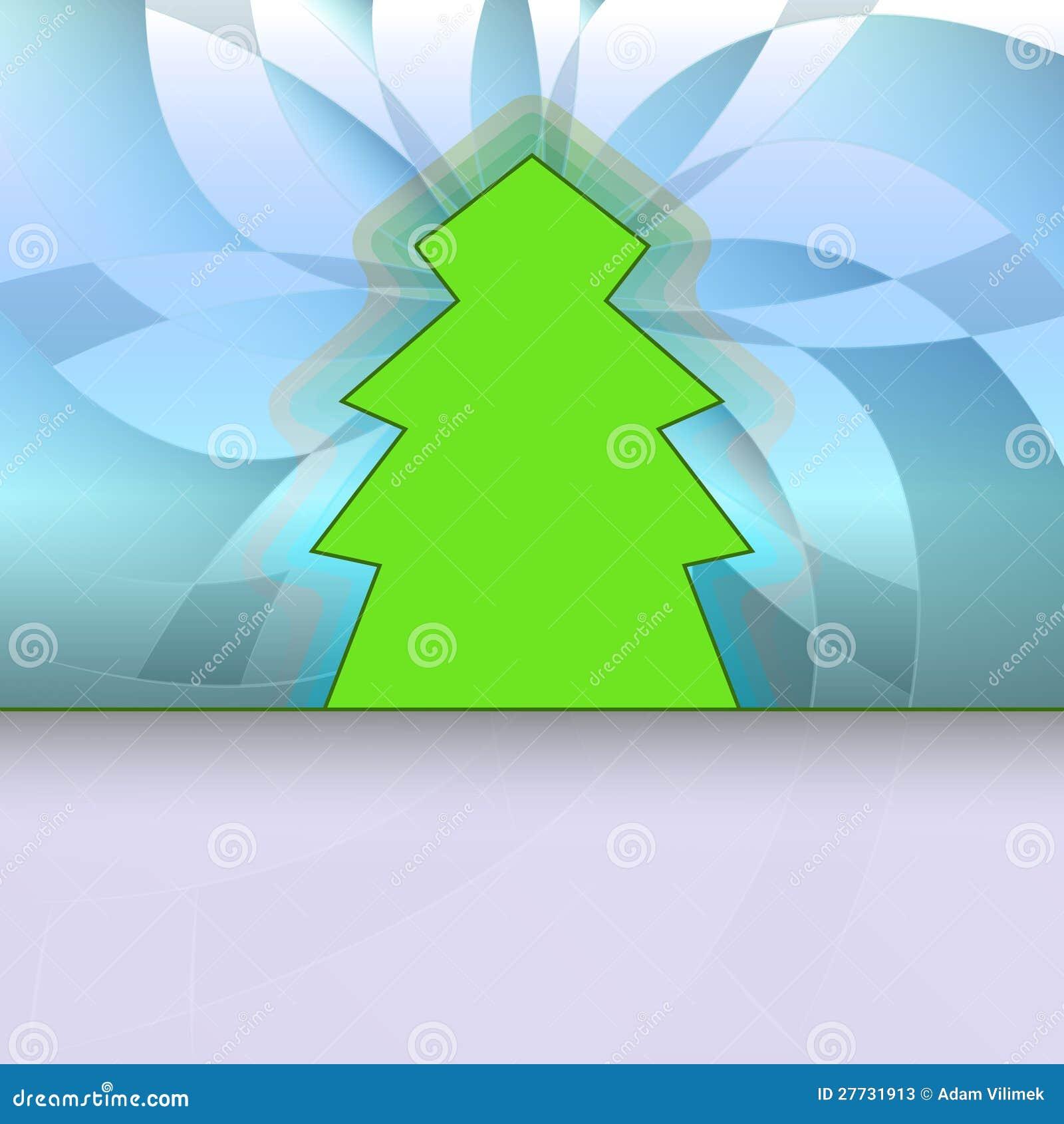 Klassische Form konzipierte Baum auf blauem Blumen