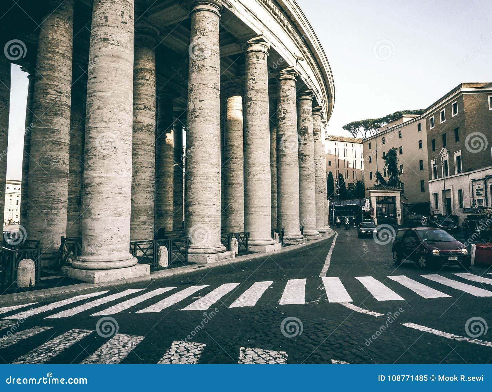 Klassische Rom-Doppeltkolonnade