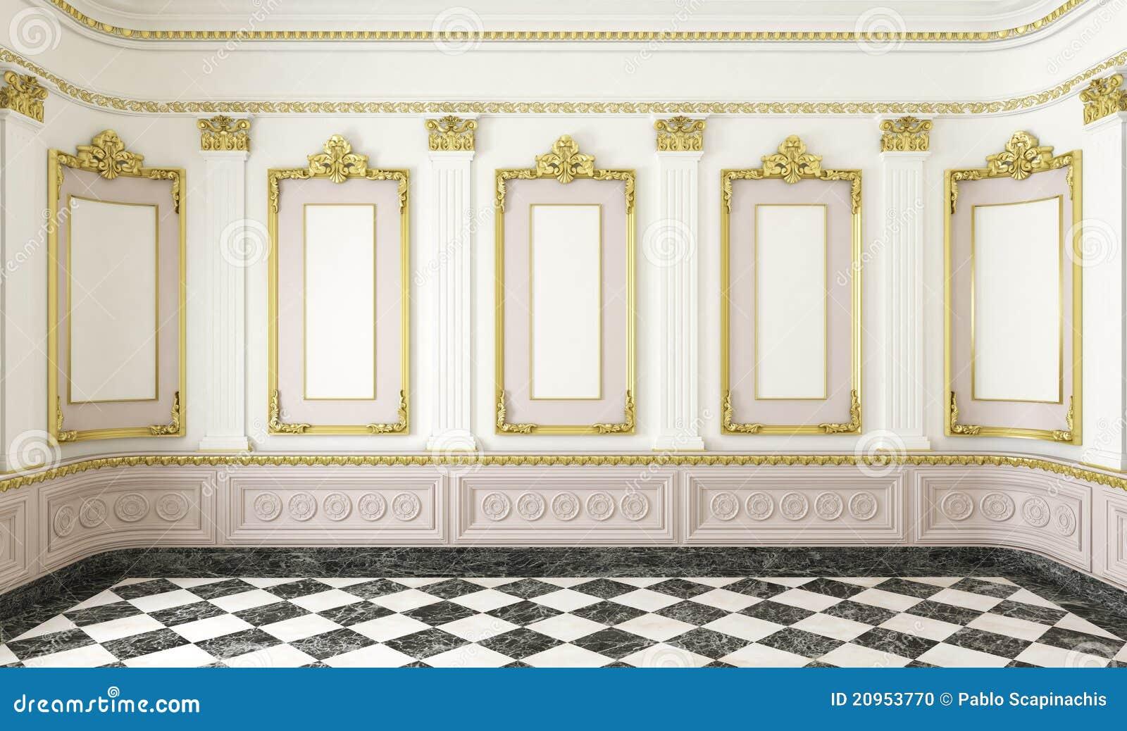 Klassischer Artraum mit Goldenem