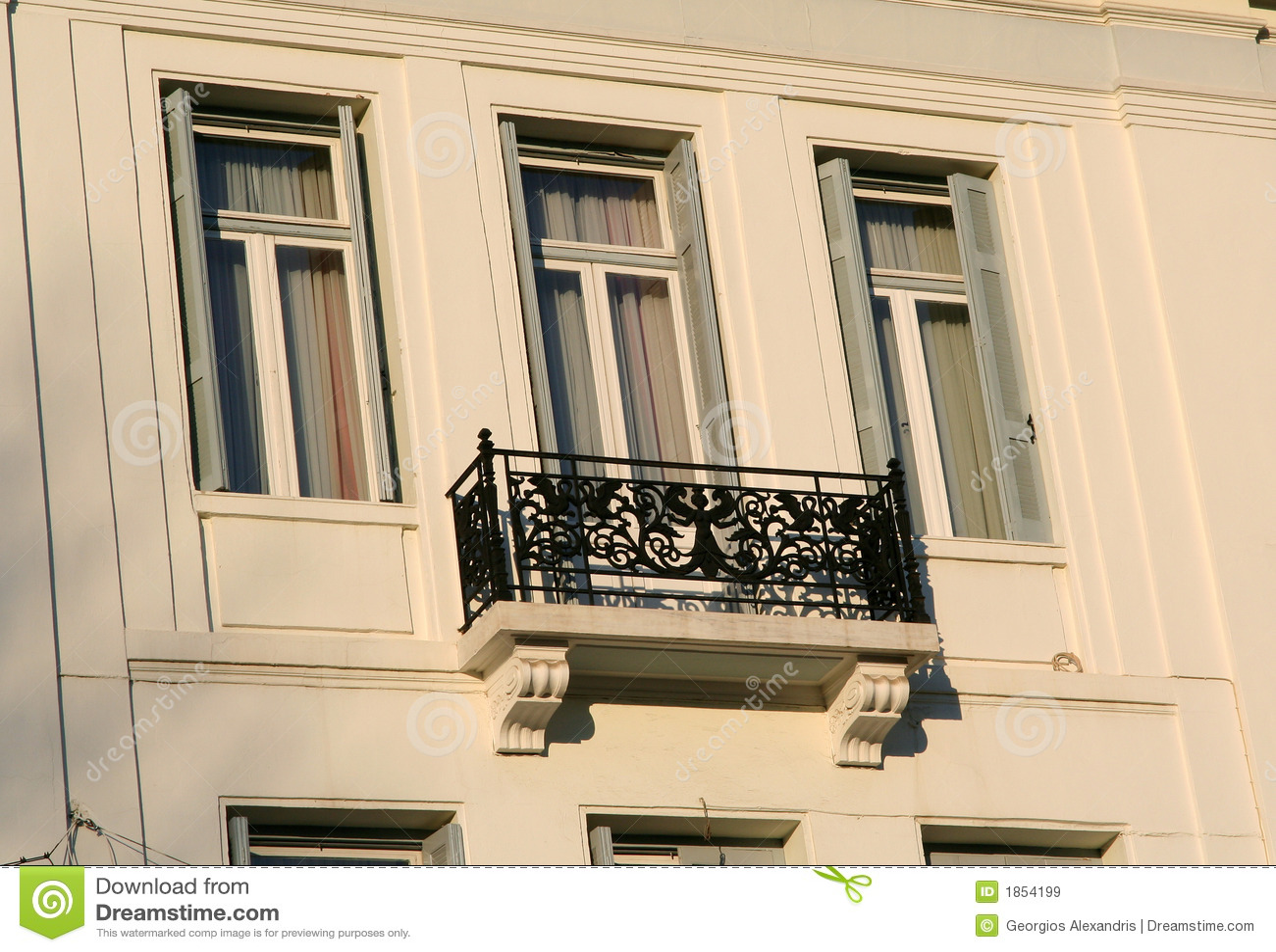 Klassischer Balkon