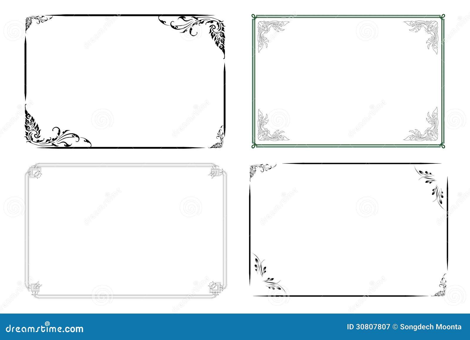 Klassischer Rahmen vektor abbildung. Illustration von rand - 30807807