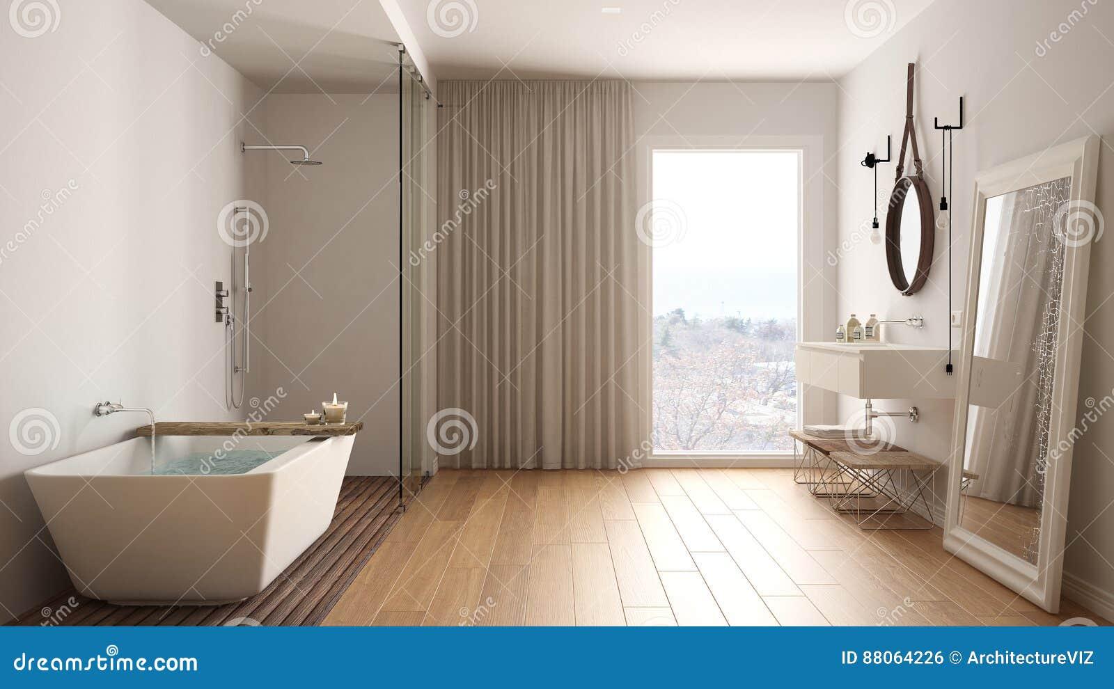 Klassisches Badezimmer, Moderne Minimalistic Innenarchitektur ...