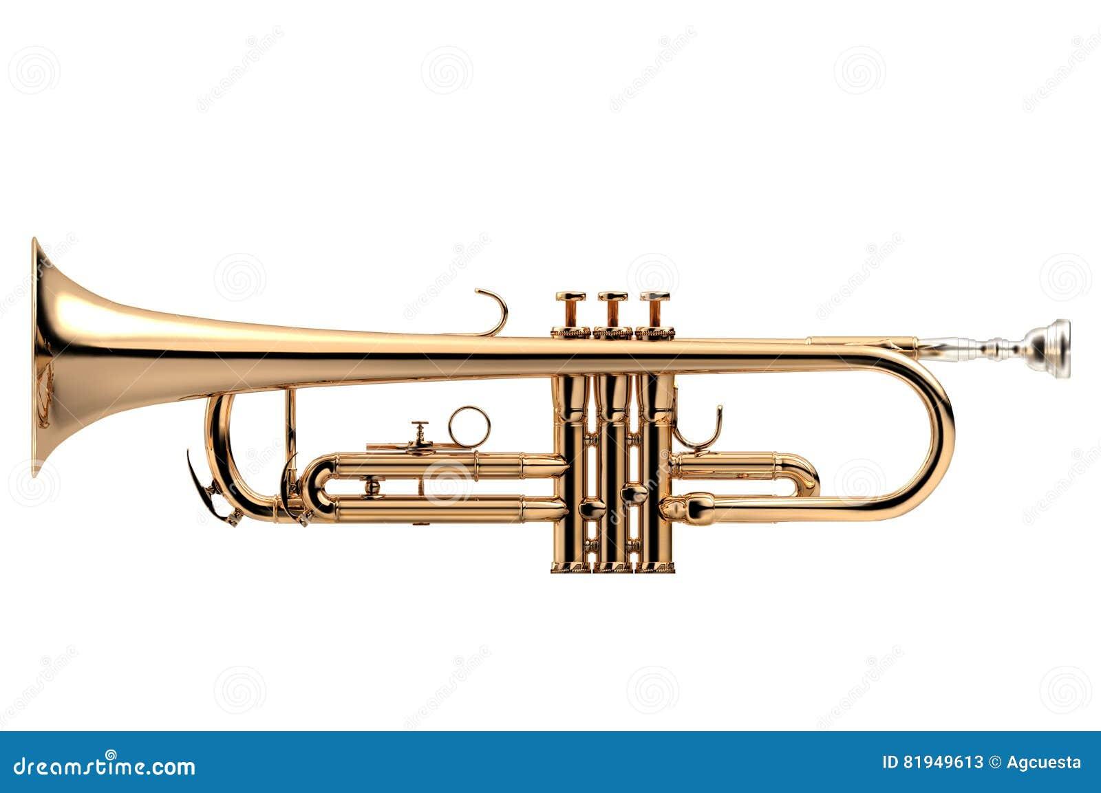Klassisches Instrument der Trompete