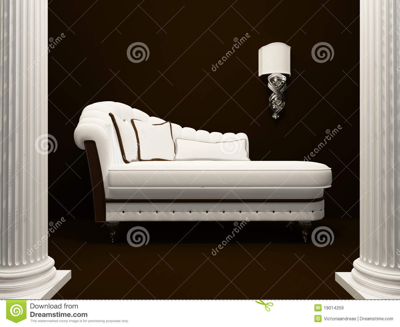 klassisches sofa mitten in pfosten lizenzfreie stockbilder. Black Bedroom Furniture Sets. Home Design Ideas