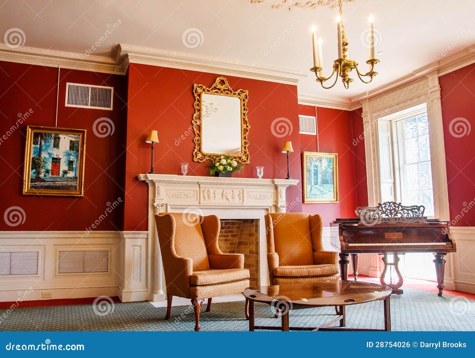 klassisches wohnzimmer mit klavier lizenzfreies stockbild bild 28754026. Black Bedroom Furniture Sets. Home Design Ideas