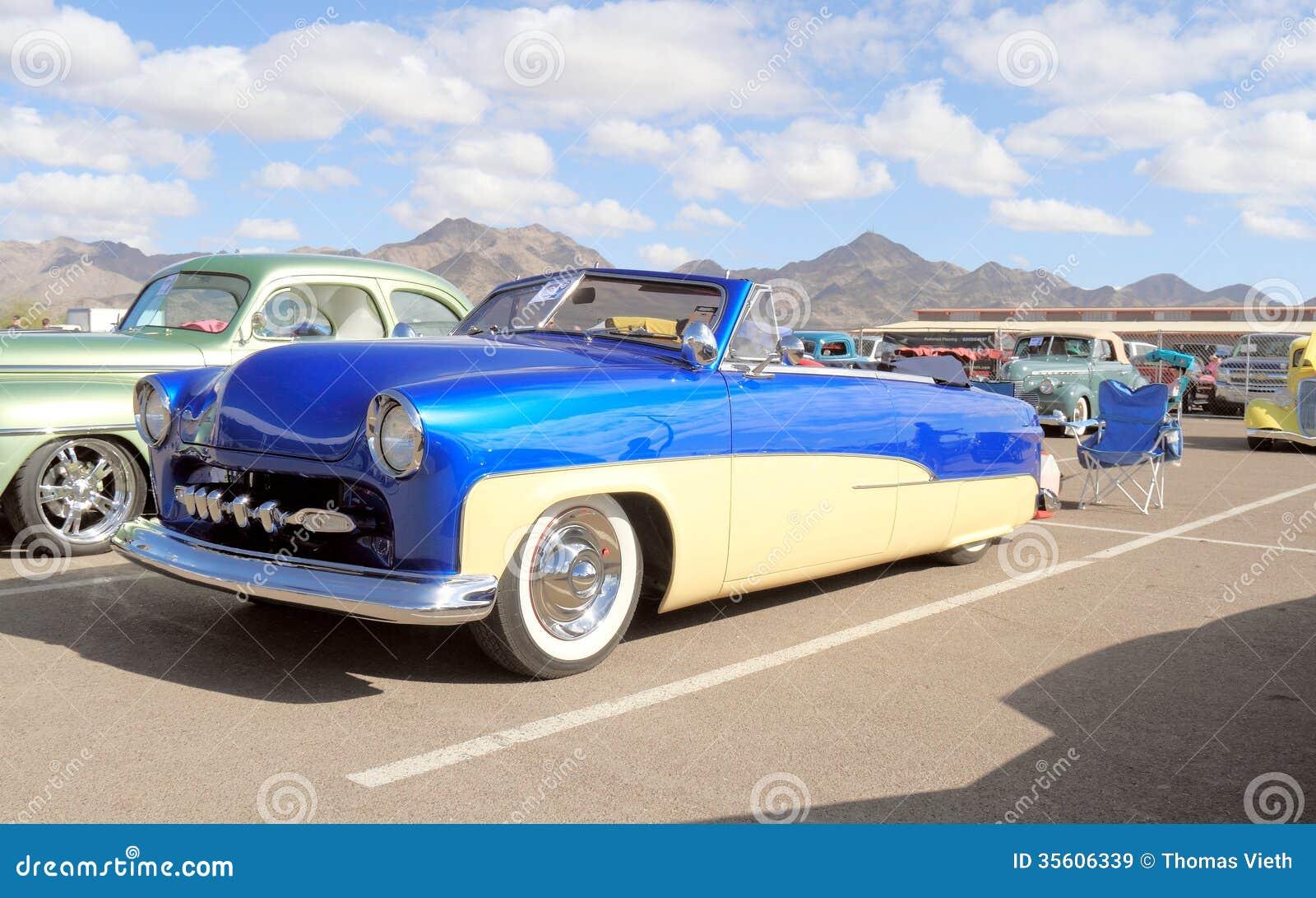 Klassisk Bil: Ford Convertible 1951 Redaktionell Fotografering för Bildbyråer - Bild av design ...