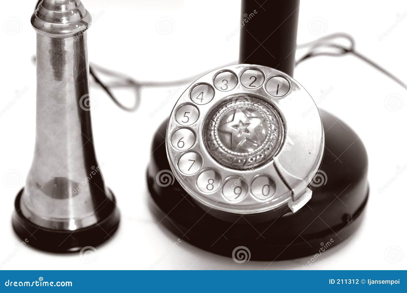 Klassisk closeuptelefon