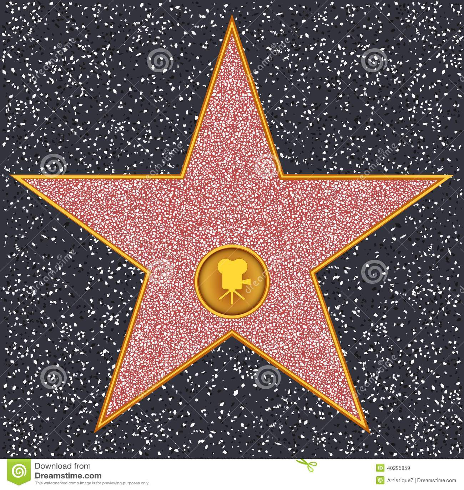 Klassisk filmkamera för stjärna (Hollywood går av berömmelse),