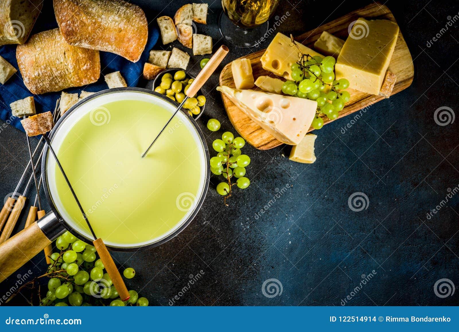 Klassisk fondue för schweizisk ost