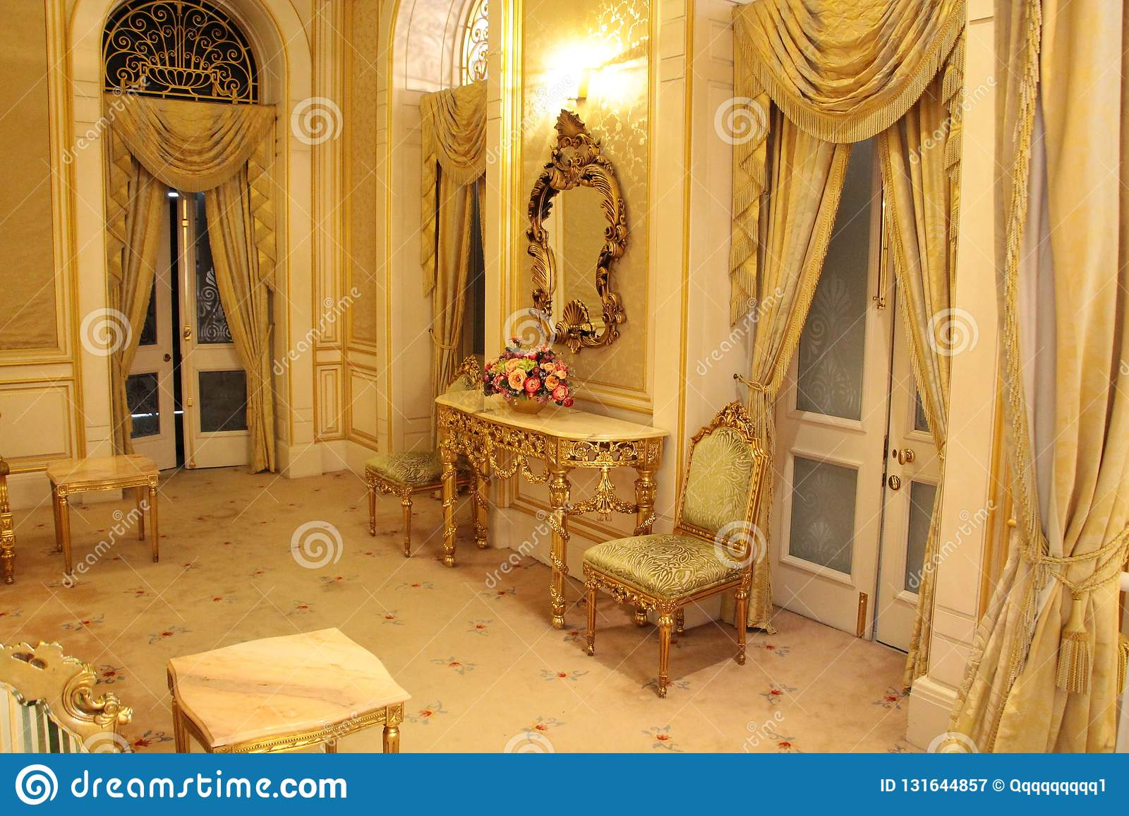 Klassisk inre  Istana Negara, Jalan Tuanku Abdul Halim slottkunglig person