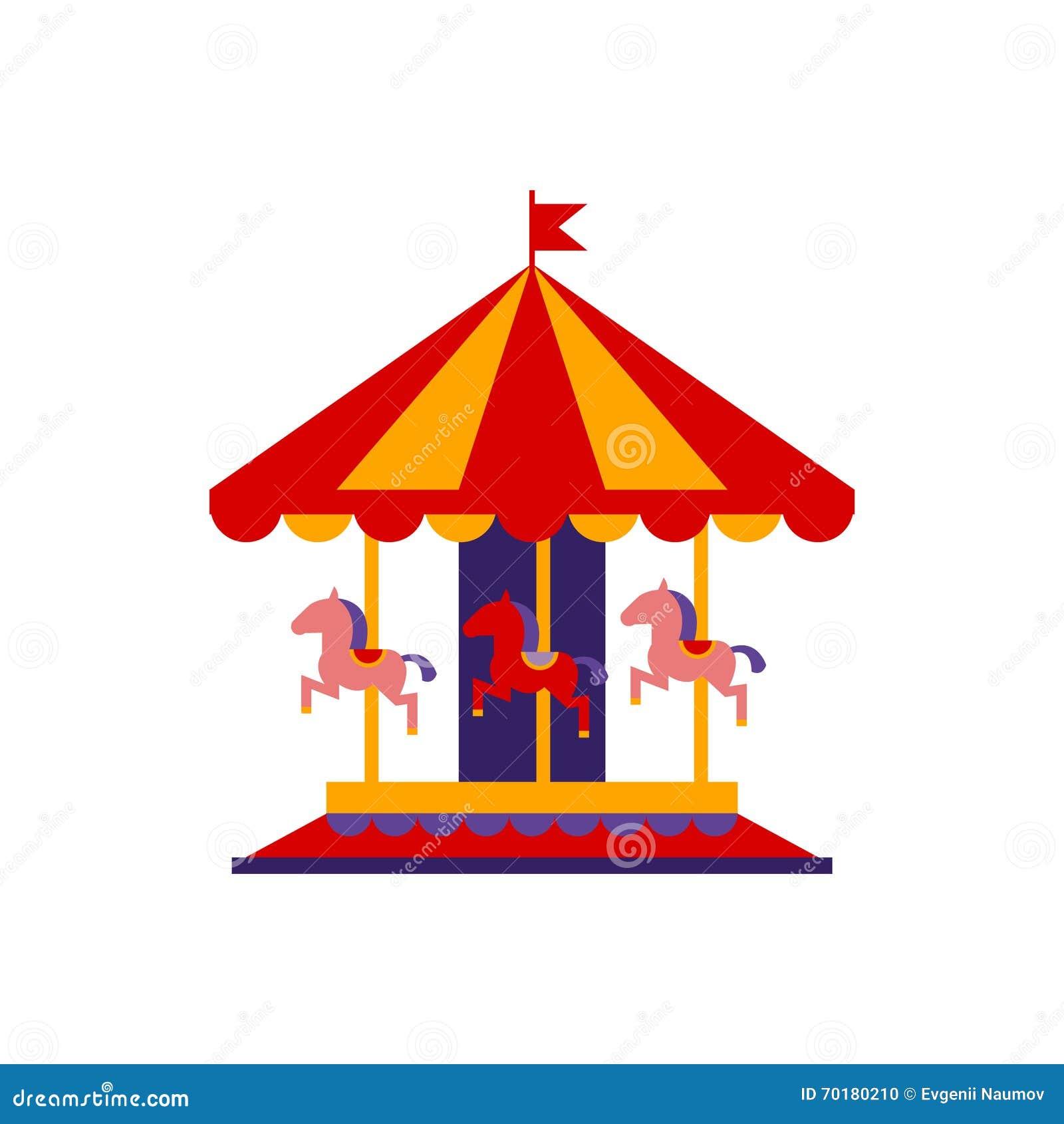 Klassisk karusell med hästar