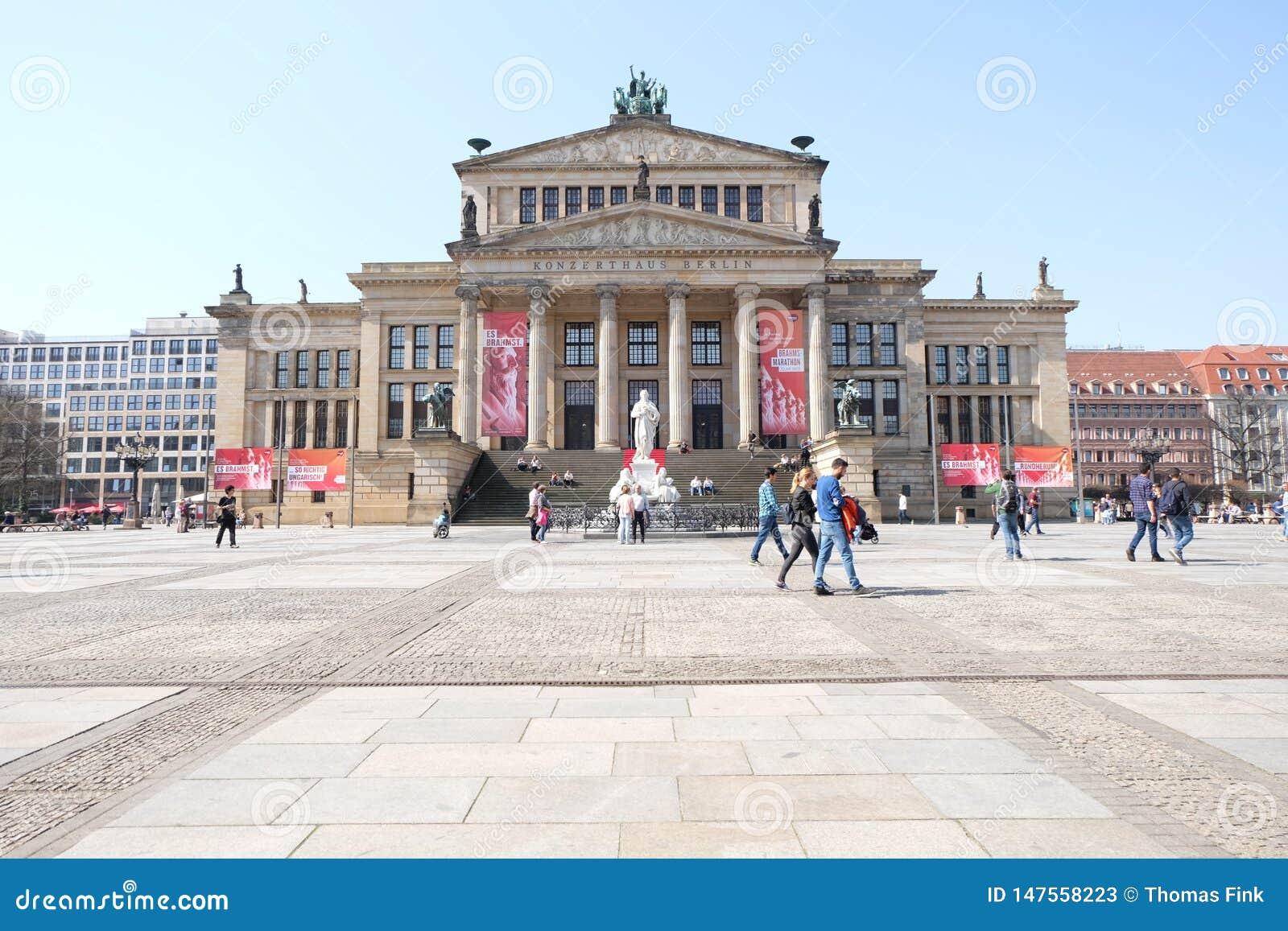 Klassisk kolonnkonsert Hall Berlin