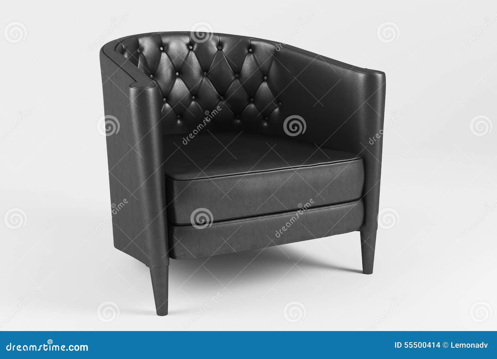 Läderfåtöljer : Klassisk läderfåtölj stock illustrationer bild