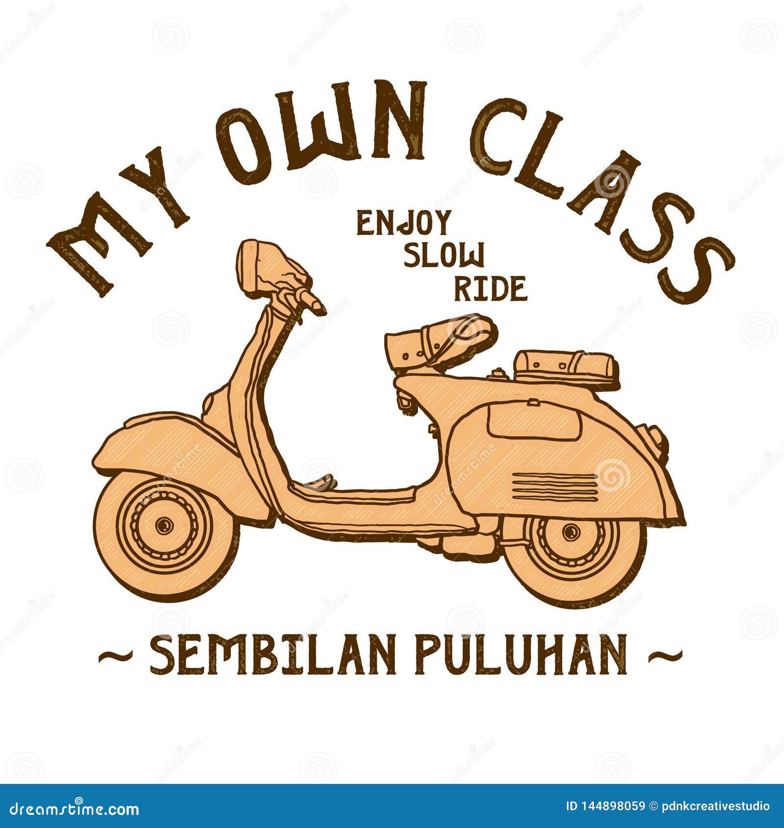 Klassisk sparkcykelvektor av min egen grupp