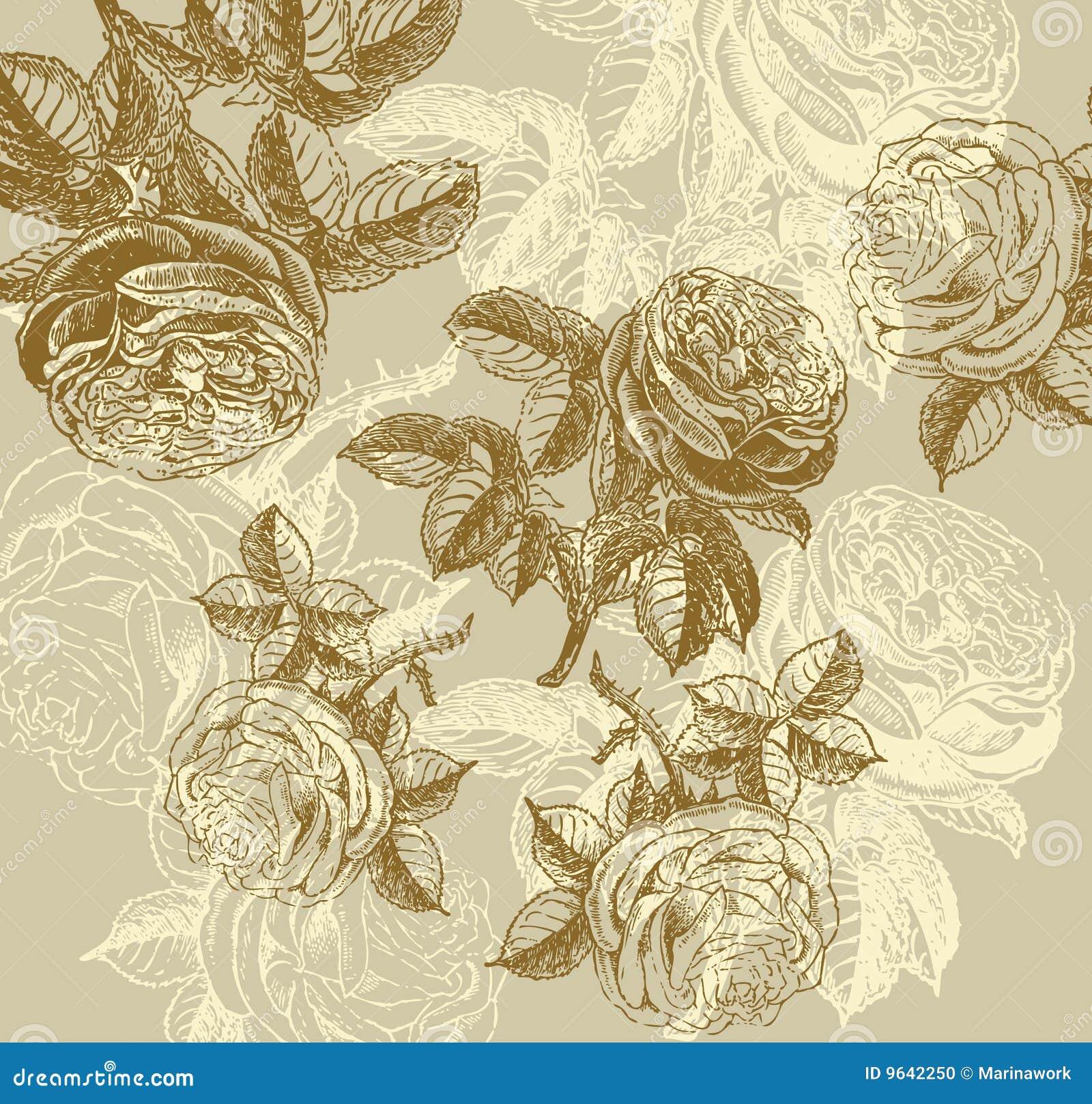 Klassisk vägg för blommapappersmodell