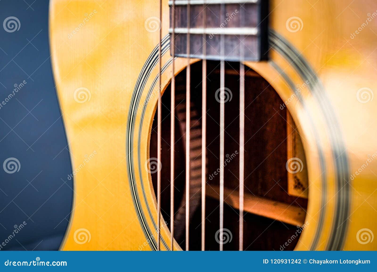Klassiskt byggande för gitarr vid trästil