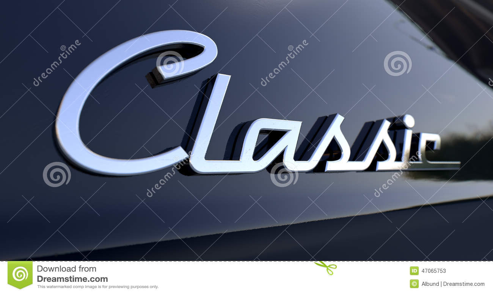 Klassiskt Chrome bilemblem