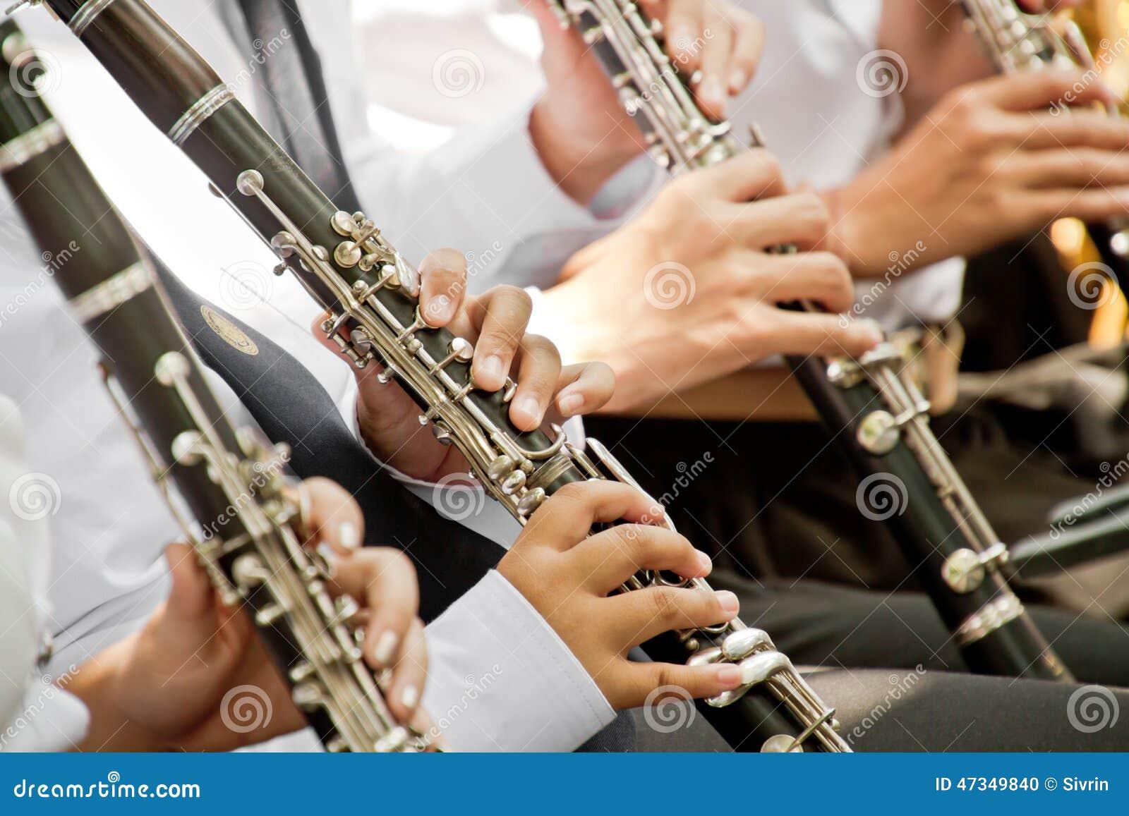 Klassiskt spela för musikerklarinett