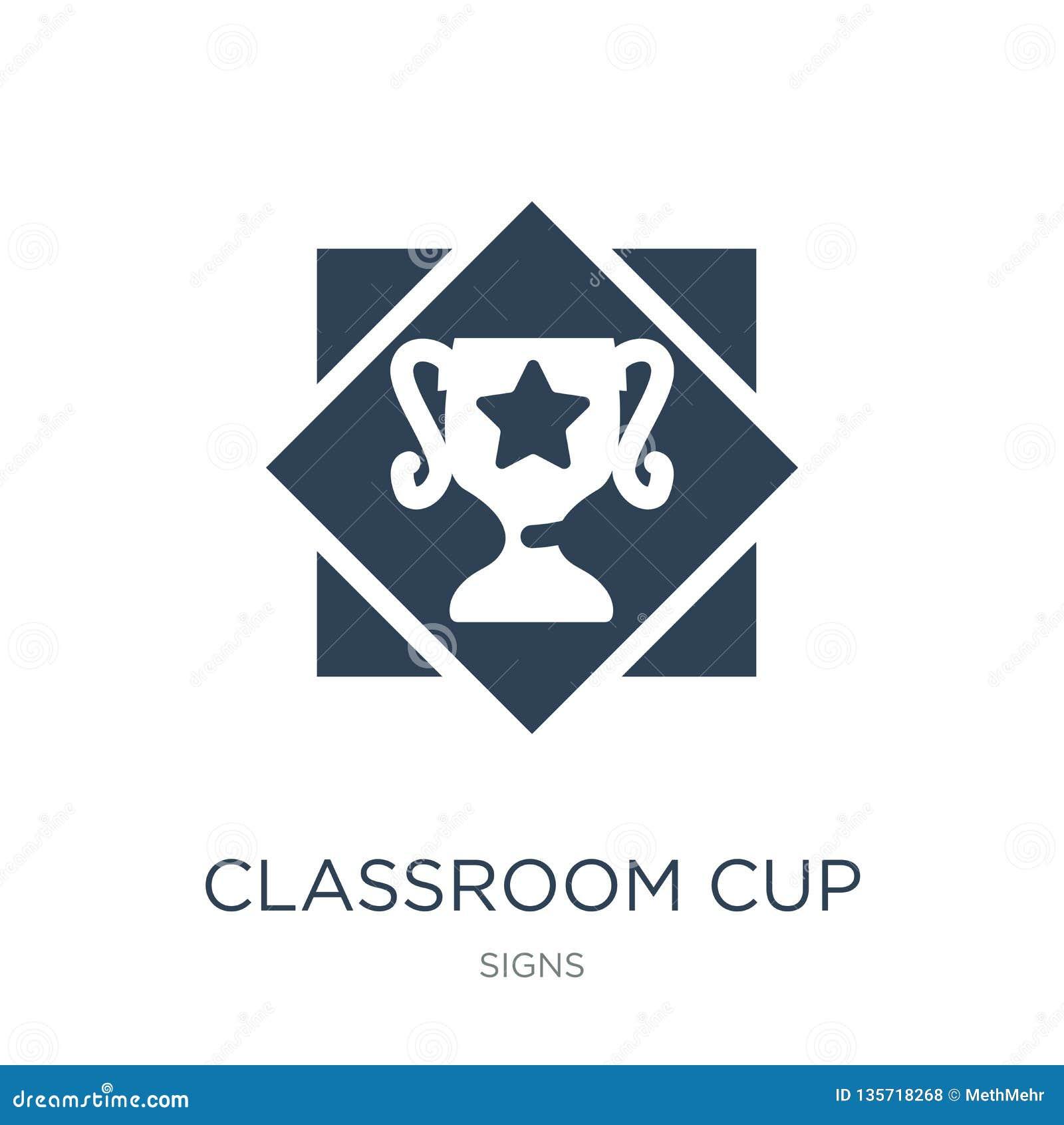 Klassrumkoppsymbol i moderiktig designstil klassrumkoppsymbol som isoleras på vit bakgrund enkel symbol för klassrumkoppvektor oc