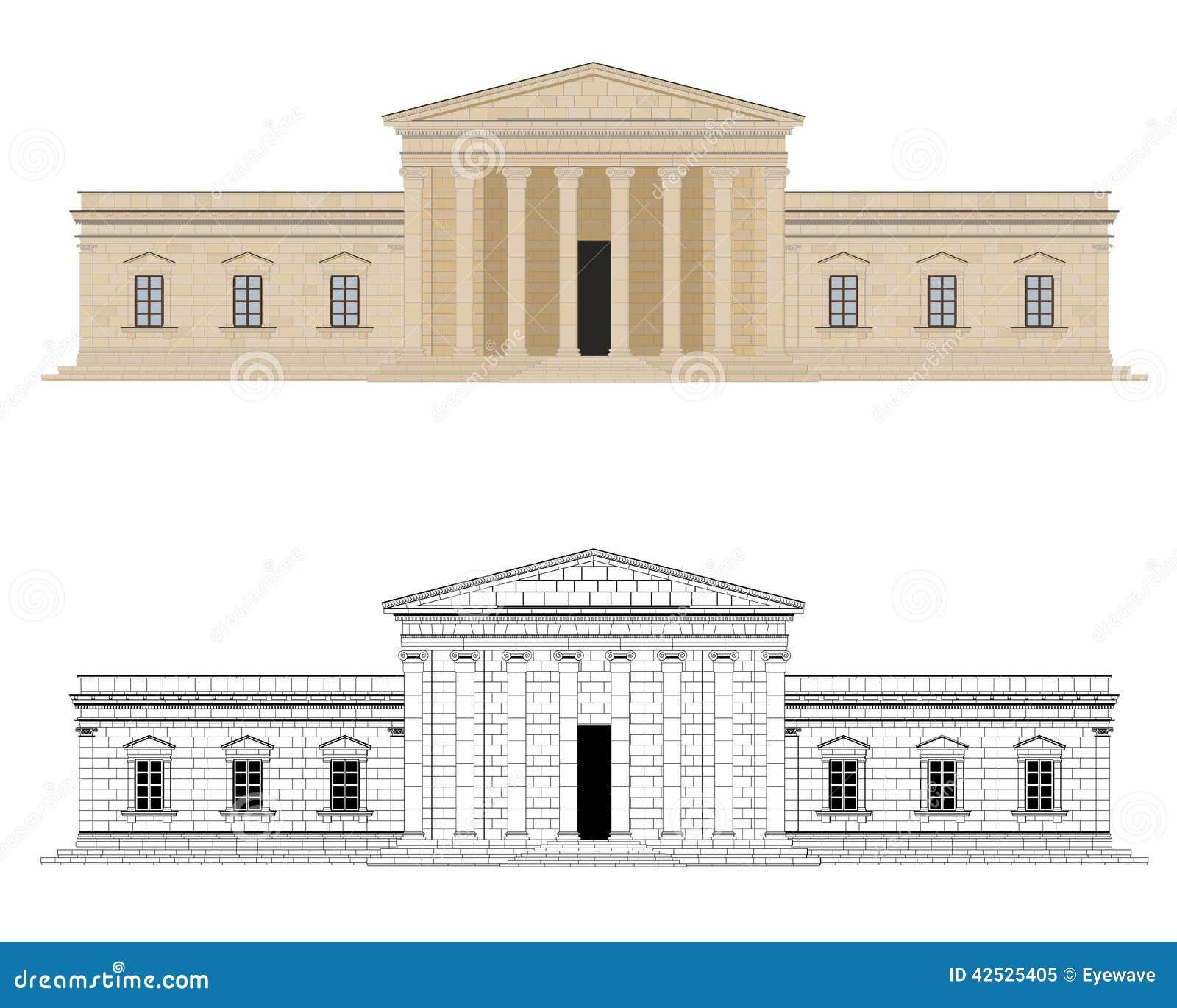 Klasycysty pałac wektoru ilustracja