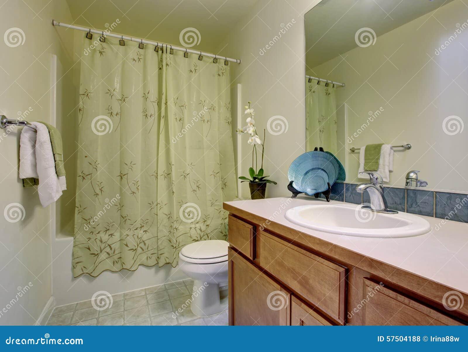 Klasyczna azienka z zielon prysznic zas on i dach wkow - Supporti per tende da interno ...